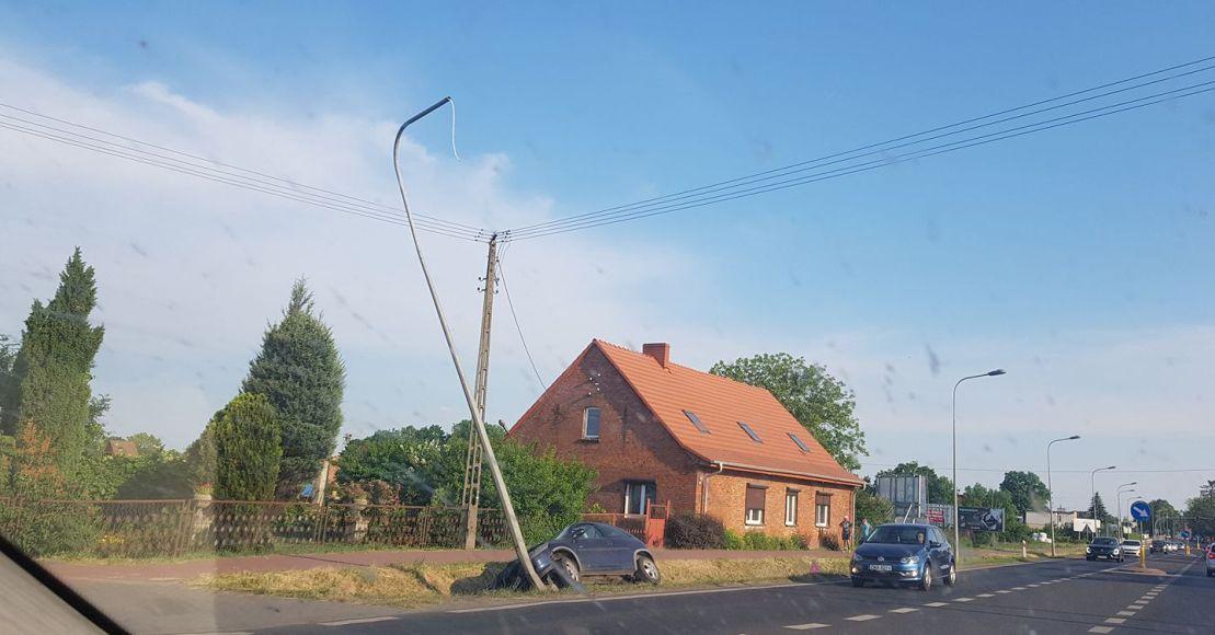 Kolizja w Bogdanowie: Oślepiło go słońce