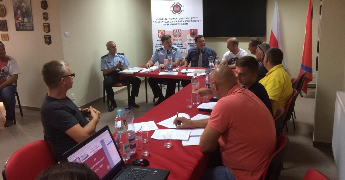 Zebranie szkoleniowo-informacyjne strażaków