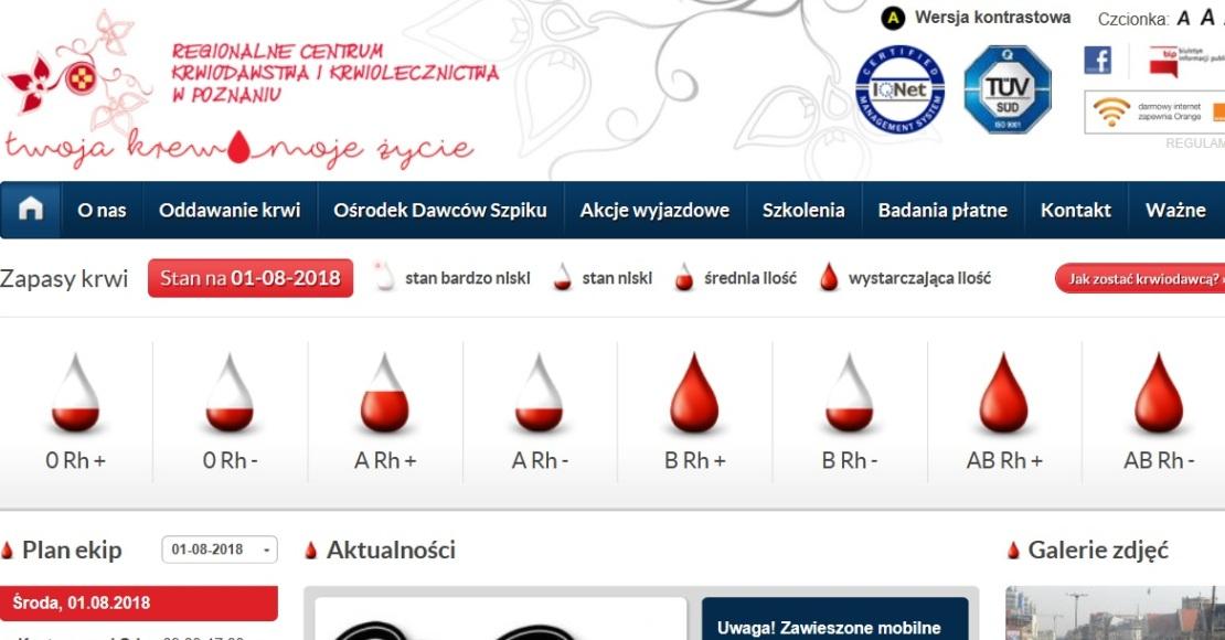 10 sierpnia możesz oddać krew w Obornikach