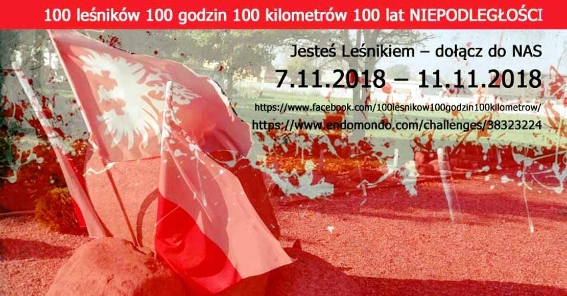 100 leśników na 100 lat Niepodległości