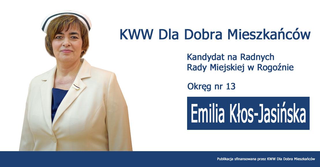 Emilia Kłos-Jasińska - KWW Dla Dobra Mieszkańców