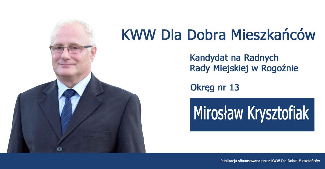 Mirosław Krysztofiak - KWW Dla Dobra Mieszkańców
