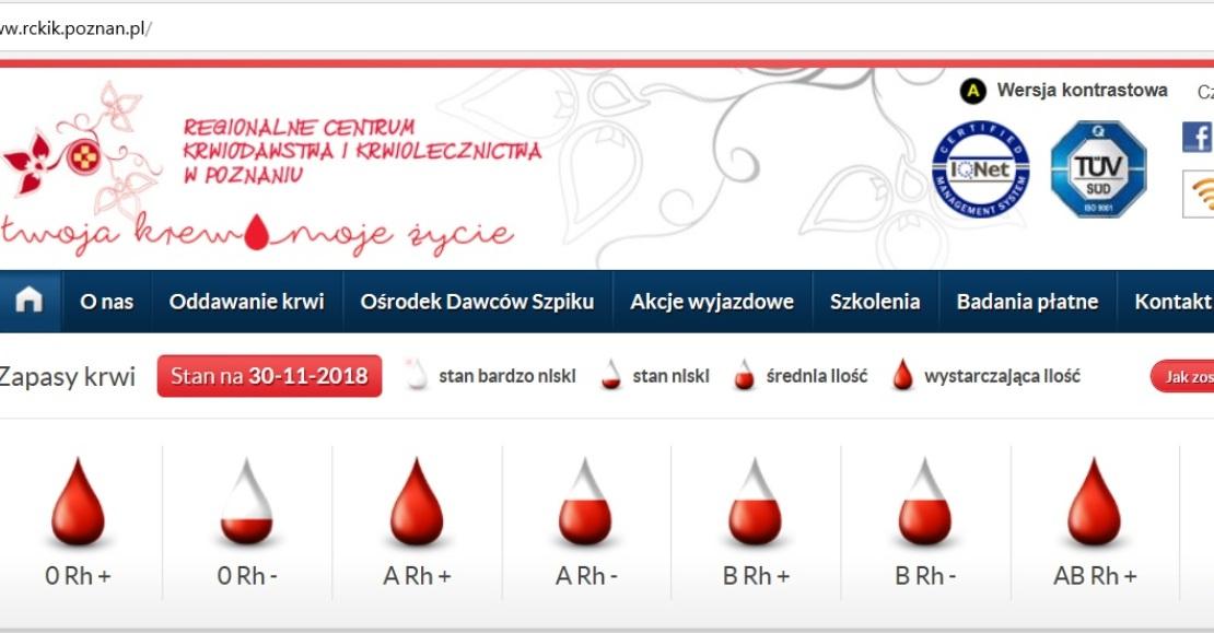 7 grudnia akcja krwiodawstwa w Obornikach