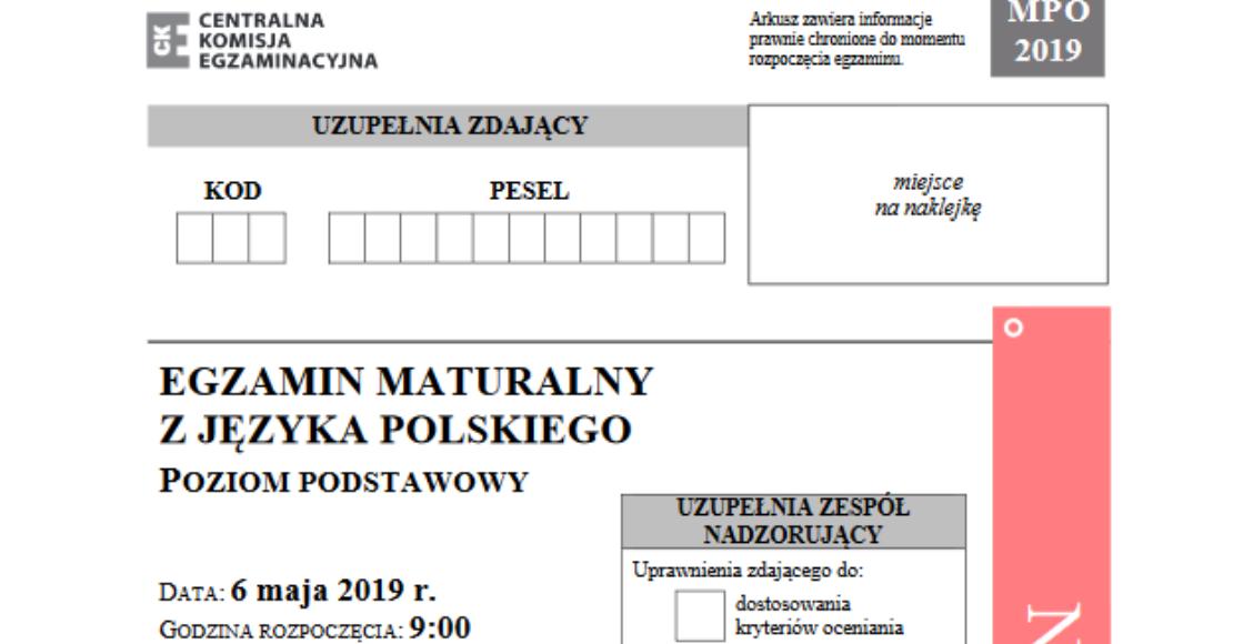 Arkusze maturalne z języka polskiego
