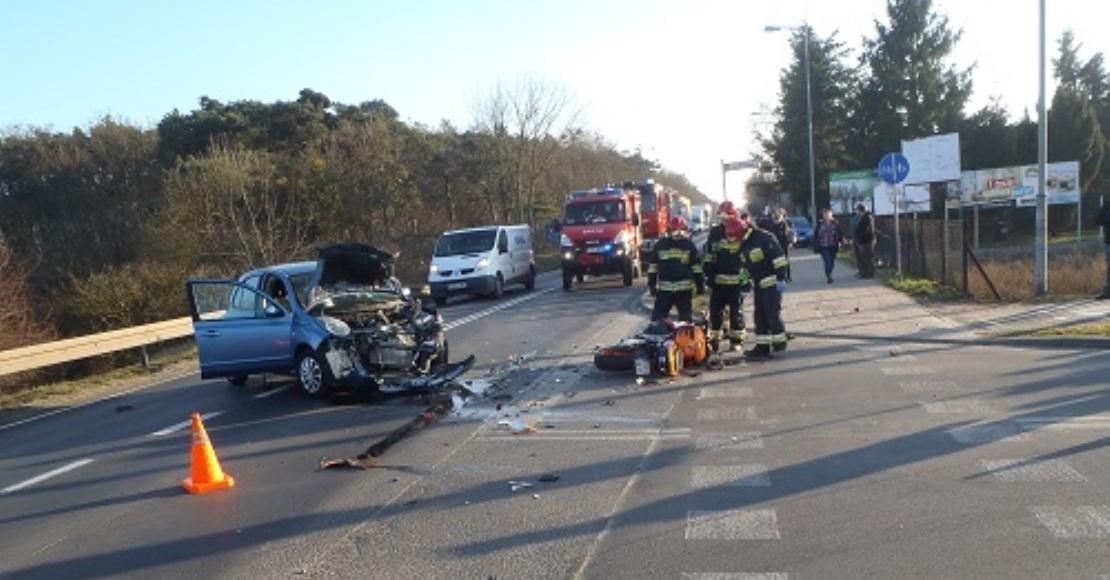Wypadek na Czarnkowskiej w Obornikach