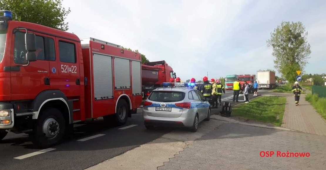 Kolizja w Kowanówku na DK11