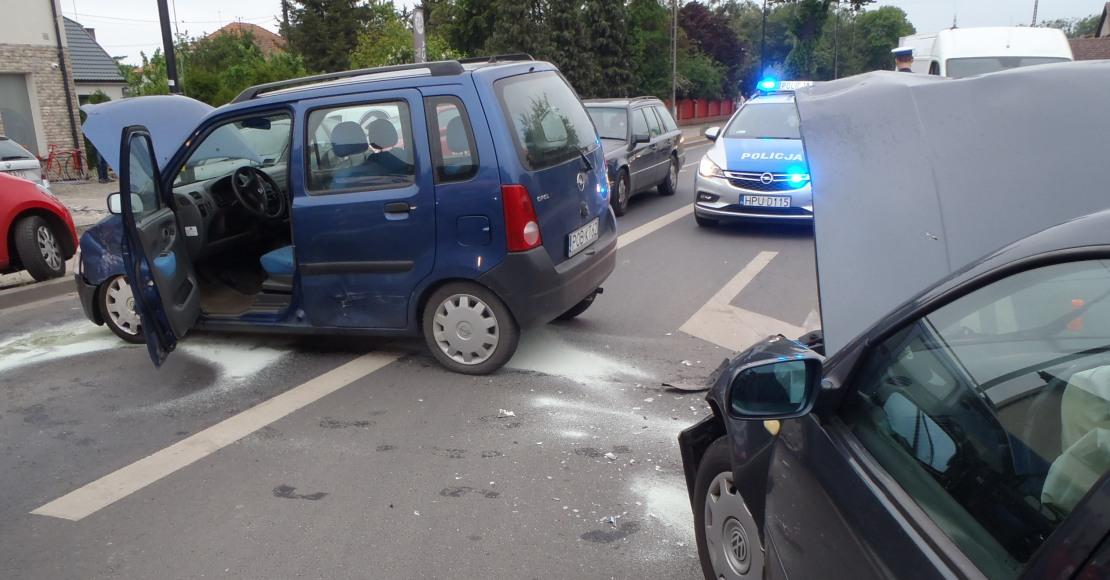 Duża liczba wypadków drogowych
