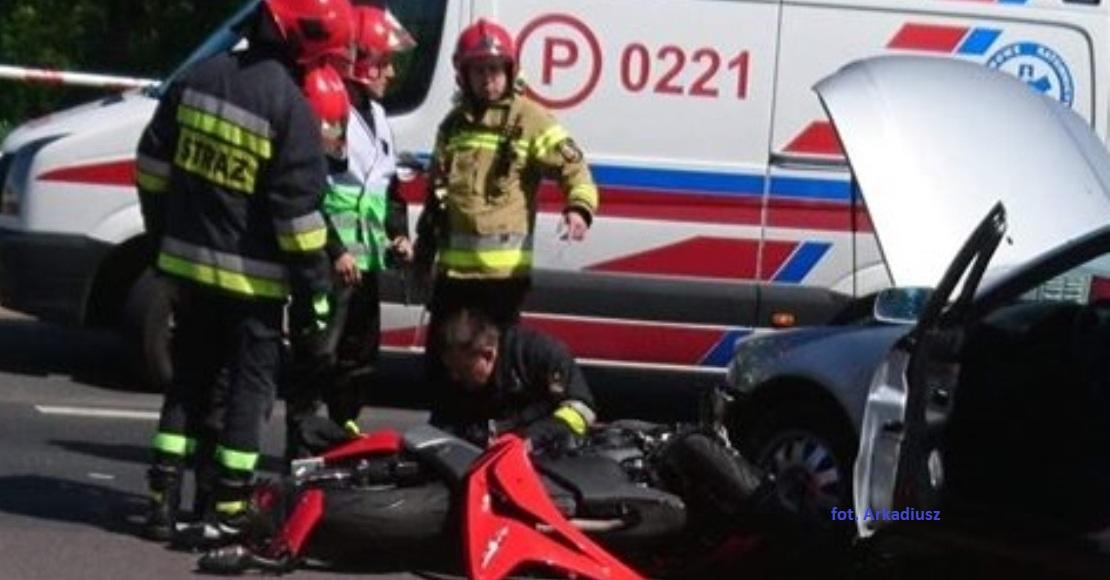 Motocyklista trafił do szpitala