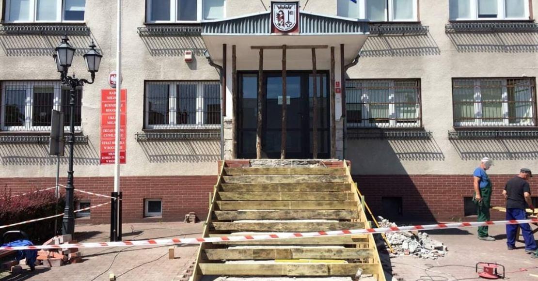 Remont w Urzędzie Miejskim w Rogoźnie