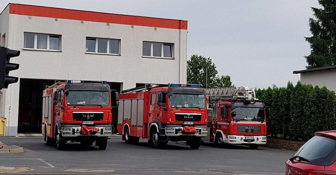 Strażacy otrzymali zgłoszenie o pożarze lasu
