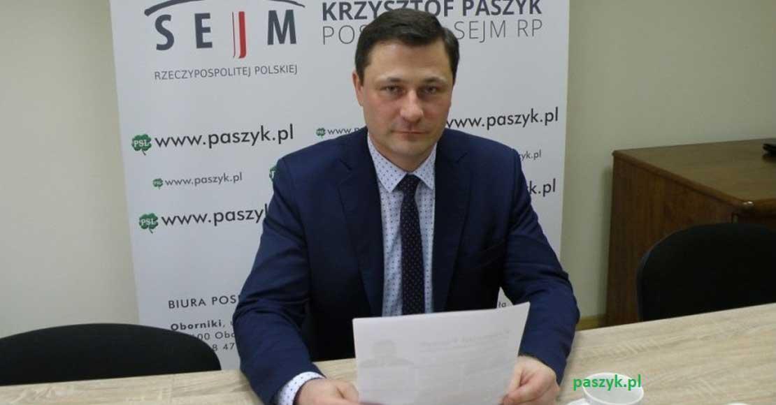 Krzysztof Paszyk nieoficjalnie ma mandat poselski