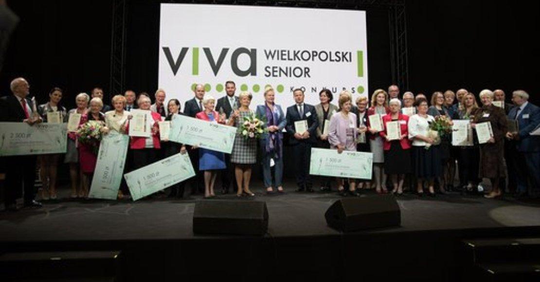 Eugeniusz Kierstan z nagrodą Viva! Wielkopolski Senior