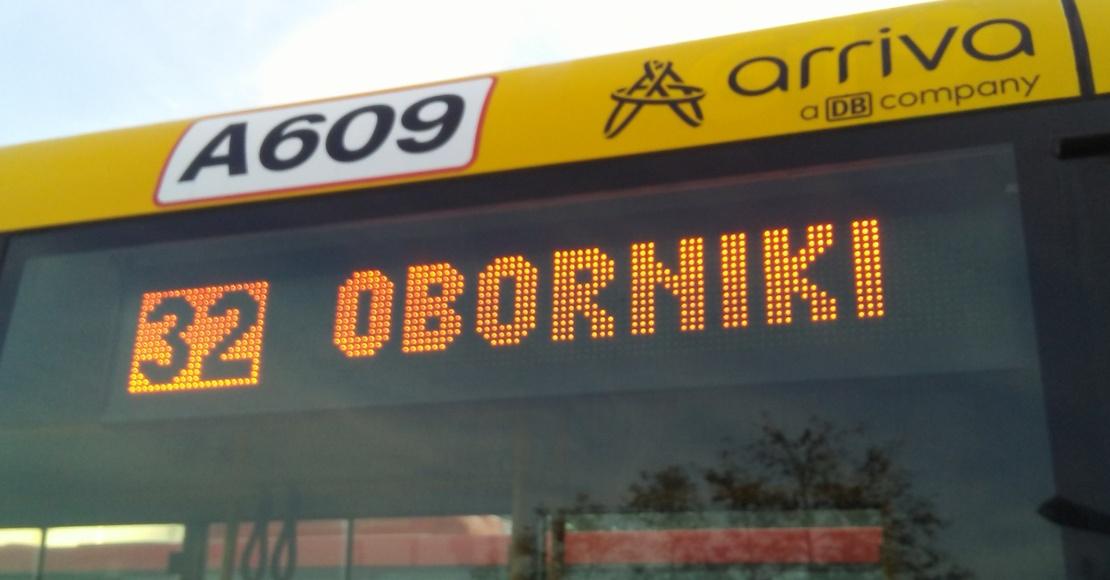 Wyświetlacze na autobusach obornickiej komunikacji