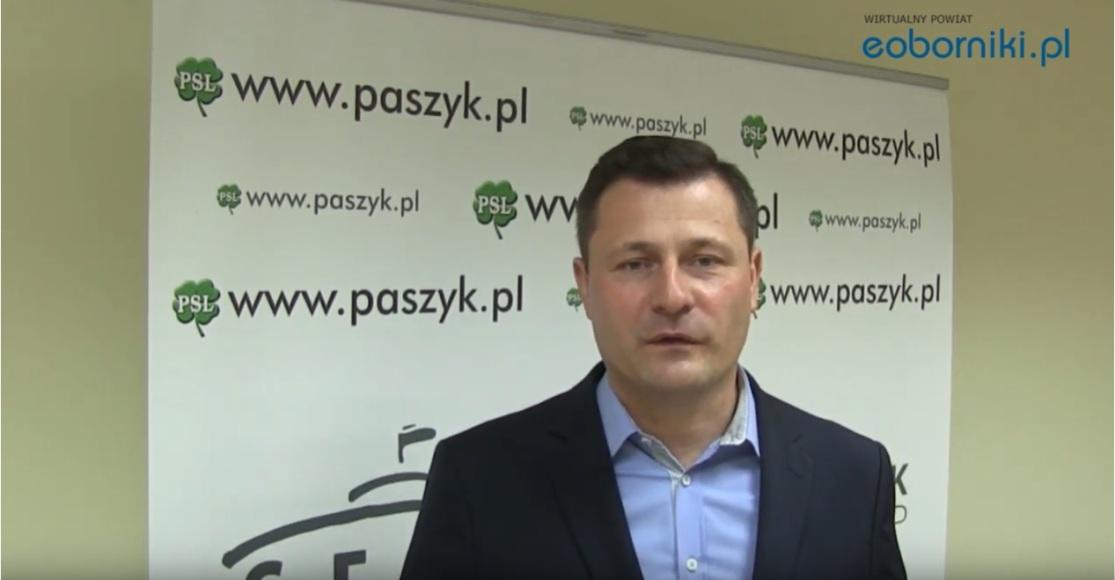 Poseł Krzysztof Paszyk o swojej drugiej kadencji (film)
