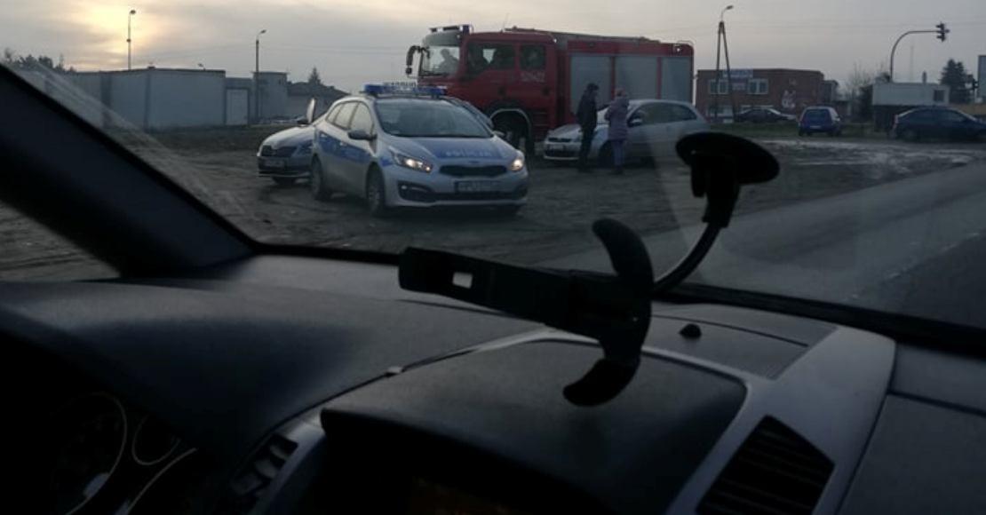 Kolizja samochodów na Mostowej w Obornikach