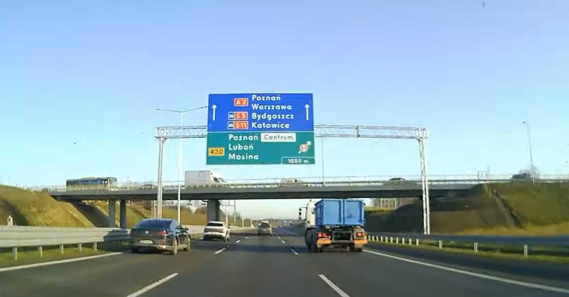 Trzeci pas autostradowej obwodnicy Poznania oddany do ruchu.