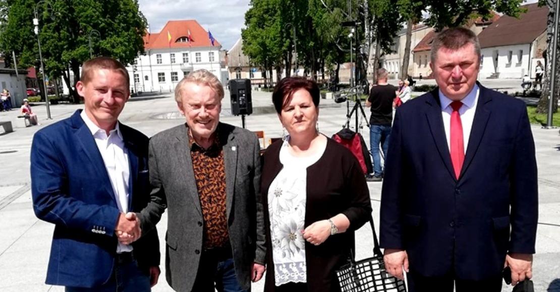 Daniel Olbrychski na Placu Karola Marcinkowskiego (foto)