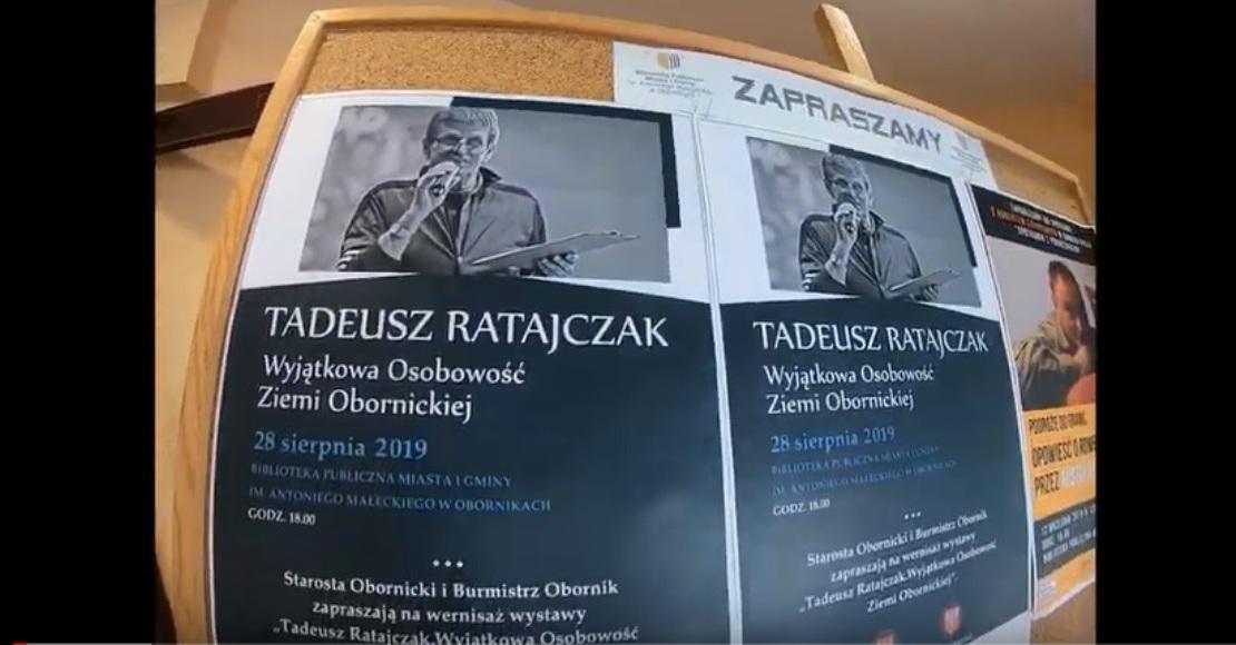 Dziś otwarcie wystawy o Tadeuszu Ratajczaku (film)