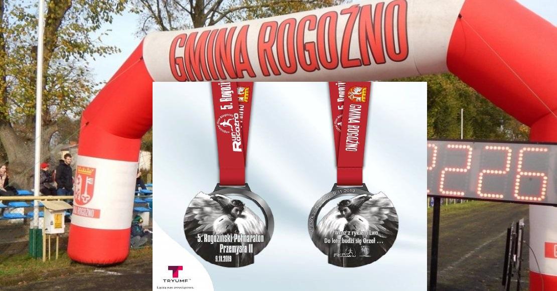 Takie medale otrzymają uczestnicy 5. Rogozińskiego Półmaratonu Przemysła ll