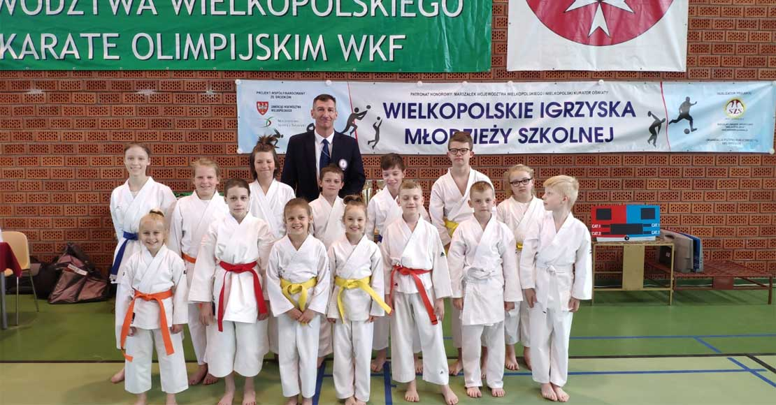 Zawodnicy Obornickiego Klubu Karate w Sopocie i Kleszczewie