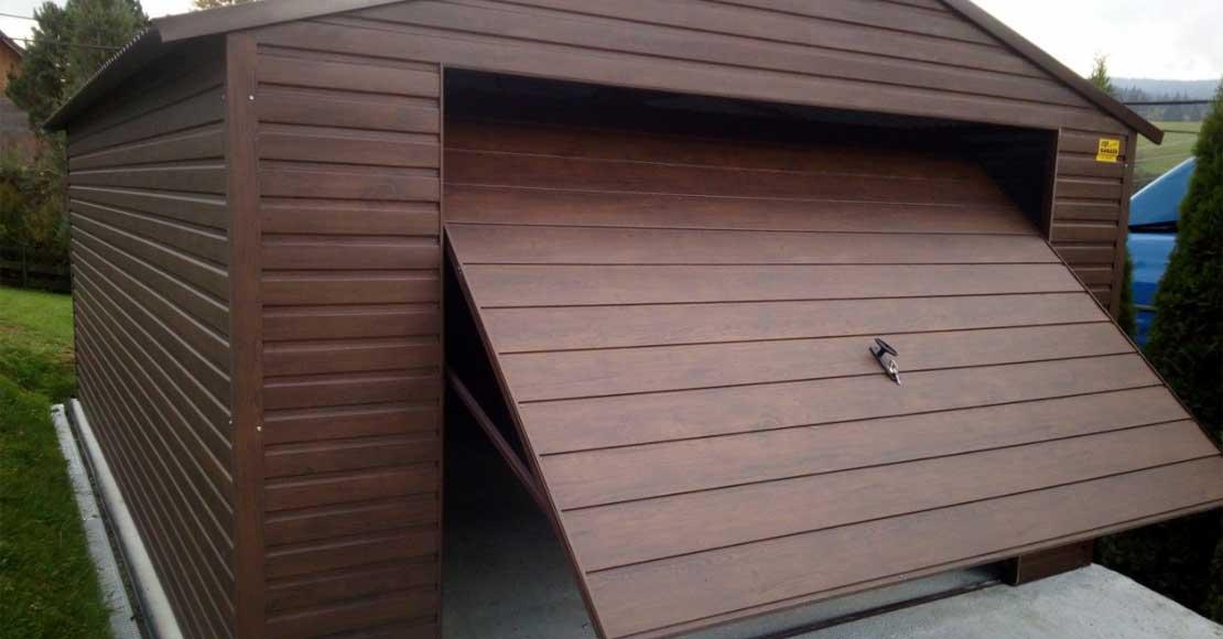 Garaże blaszane drewnopodobne - blaszany garaż nie musi być brzydki!