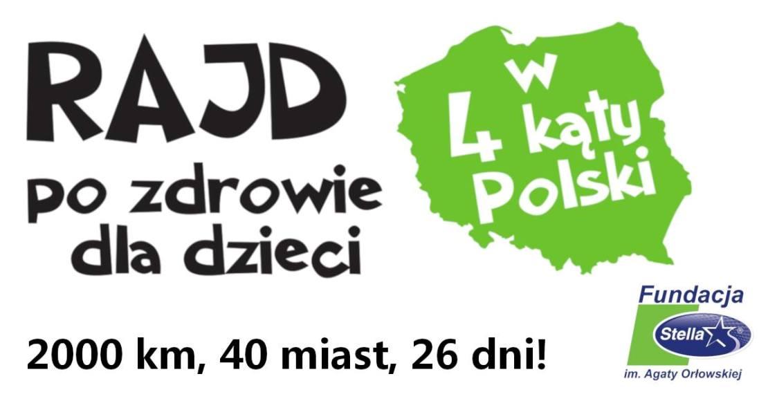 Jedzie rowerem przez Polskę i zbiera środki na fundację