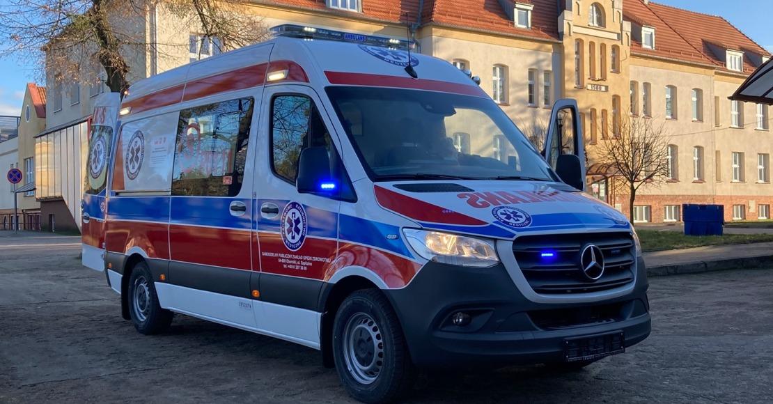 Nowy ambulans dojechał do Obornik (foto)