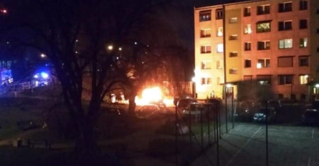 Dwa pożary w sylwestrową noc