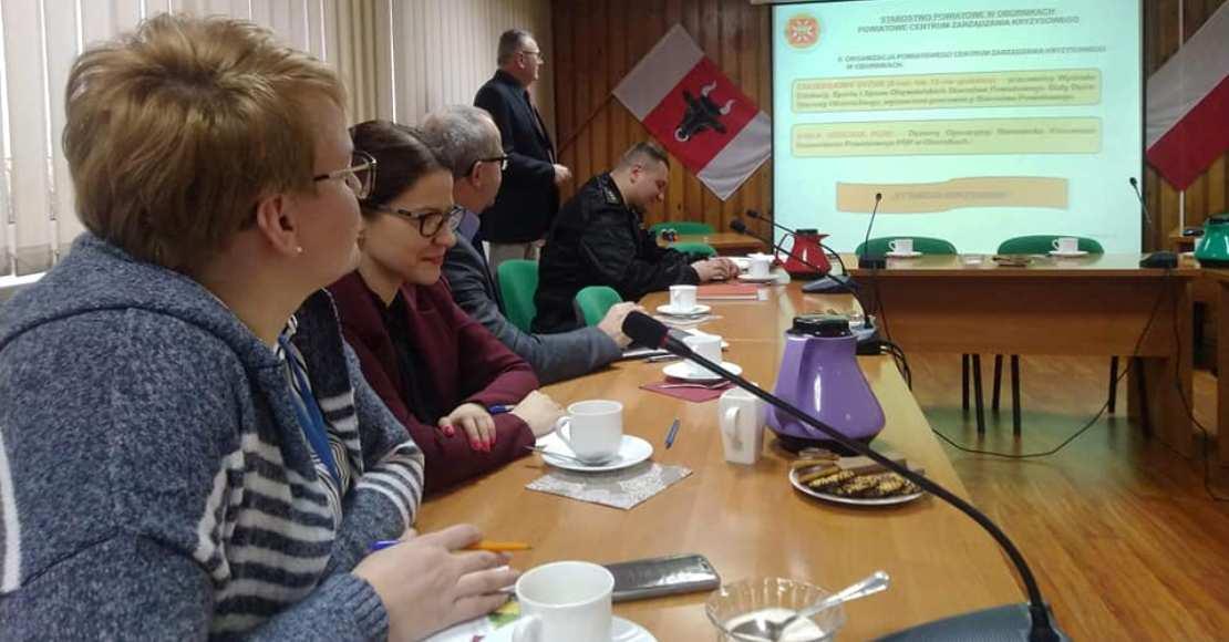 Posiedzenie Gminnego Zespołu Zarządzania Kryzysowego w Ryczywole