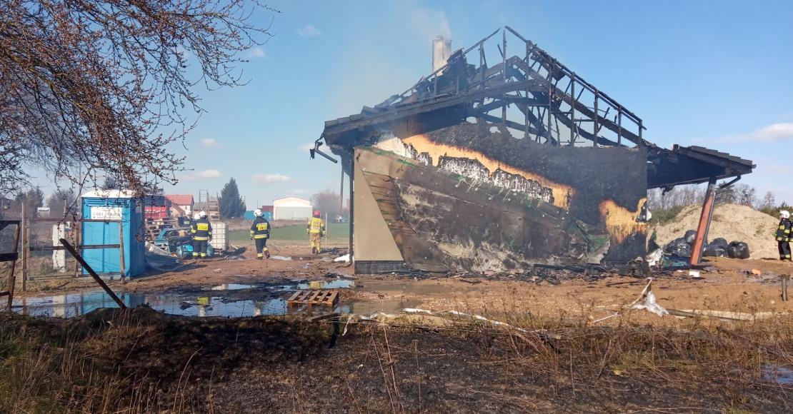 Pożar drewnianego domu w Nowołoskońcu