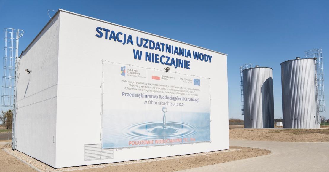 Pierwsze zadanie realizowane przez obornickie wodociągi dofinansowane z Unii Europejskiej zostało zakończone.