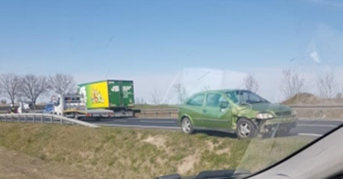 Wypadek na DK11 między Wargowem i Chludowem