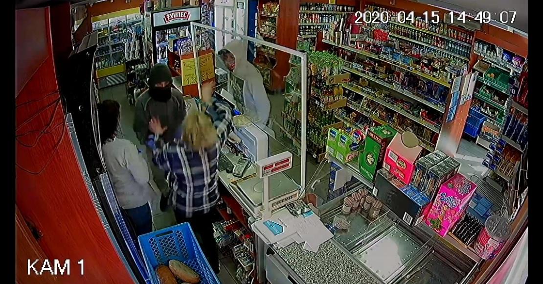Policja poszukuje sprawców napadu na sklep w Uścikowie (film)