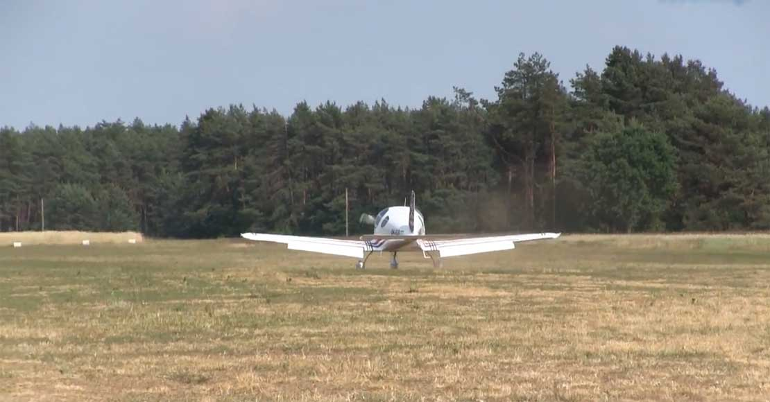 Pasjonat driftingu zniszczył płytę lądowiska w Słonawach