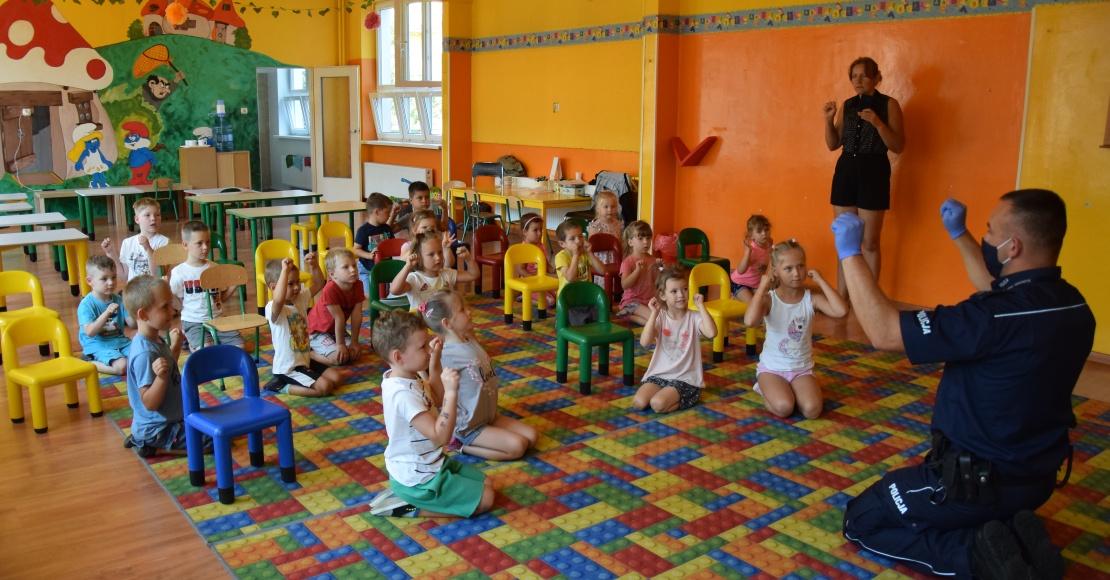 O bezpieczeństwie podczas wakacji mówili w Przedszkolu Bajeczka w Obornikach