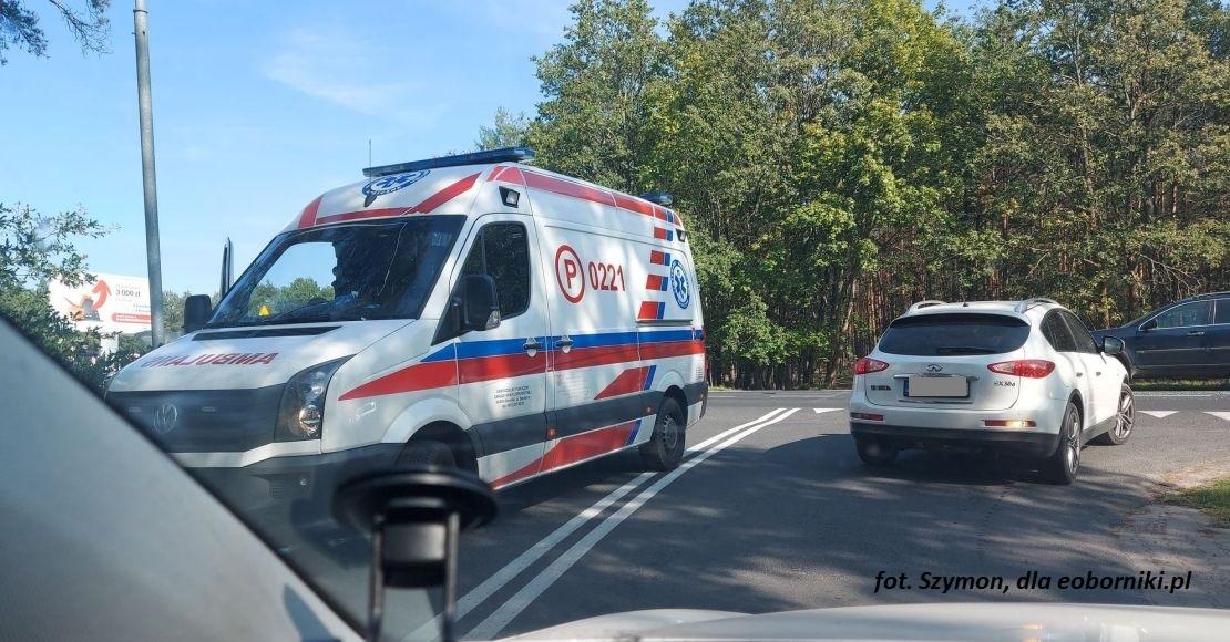 Zderzenie pojazdów w Dąbrówce Leśnej