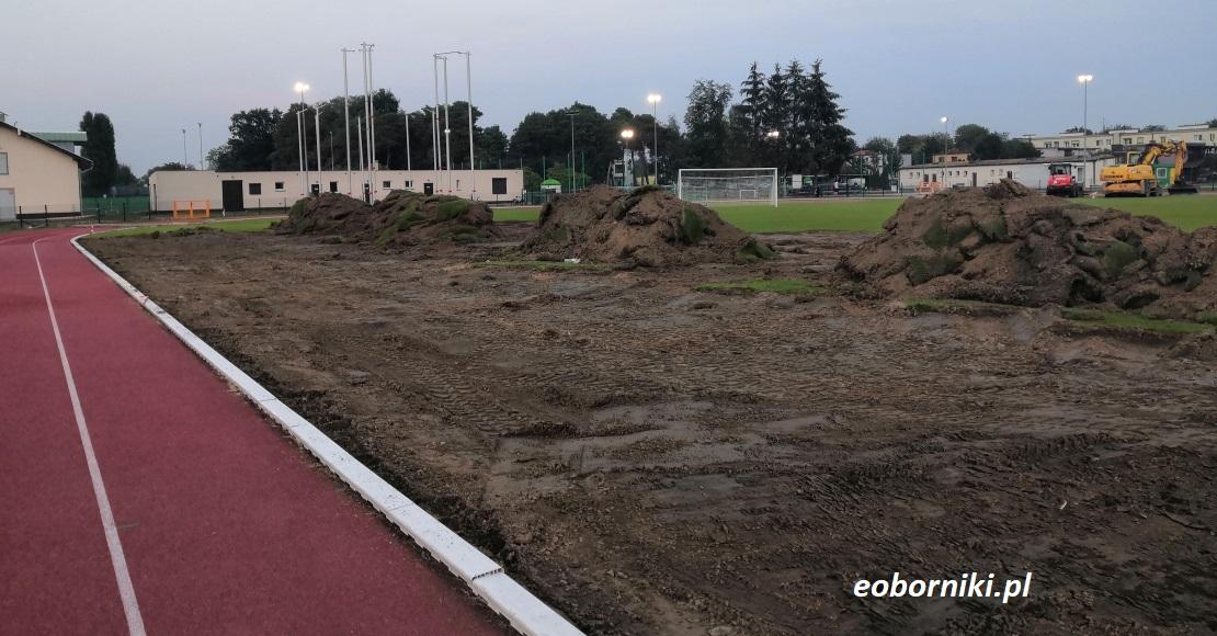 Modernizacja płyty boiska przy ul. Objezierskiej w Obornikach (foto)