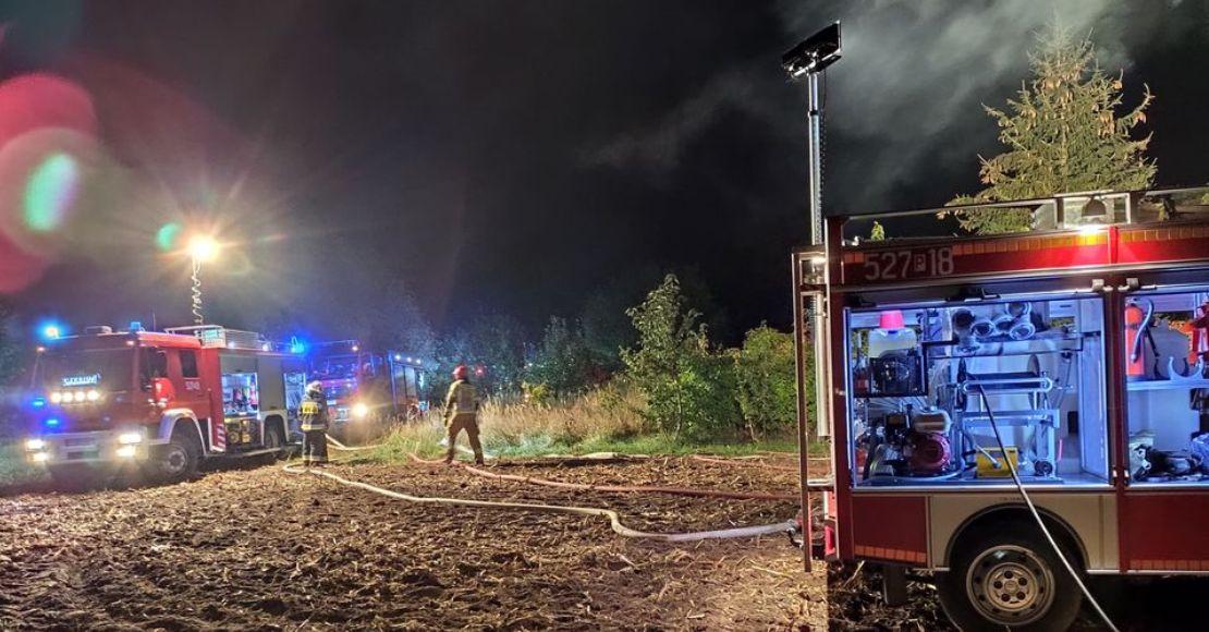 Nocny pożar w Lulinie (foto)
