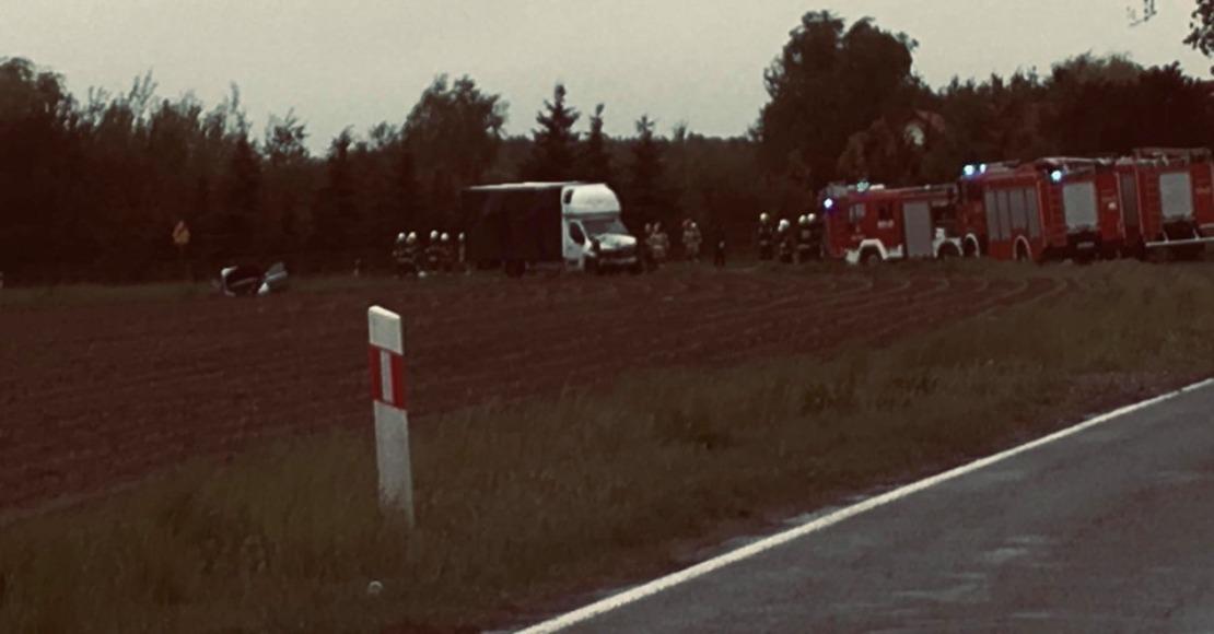 Droga w Pruścach zablokowana po wypadku (foto)