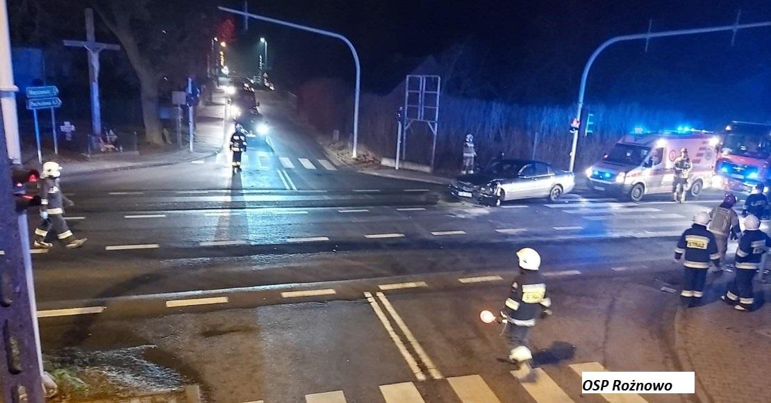 Kolizja dwóch pojazdów w Rożnowie(foto)