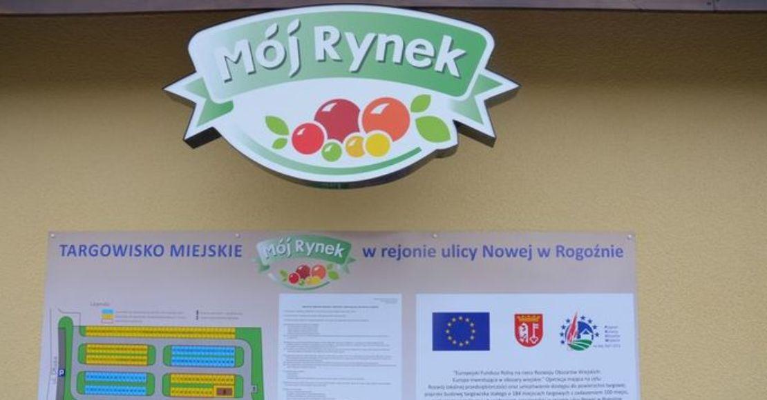 Burmistrz Rogoźna otworzył ponownie targowisko