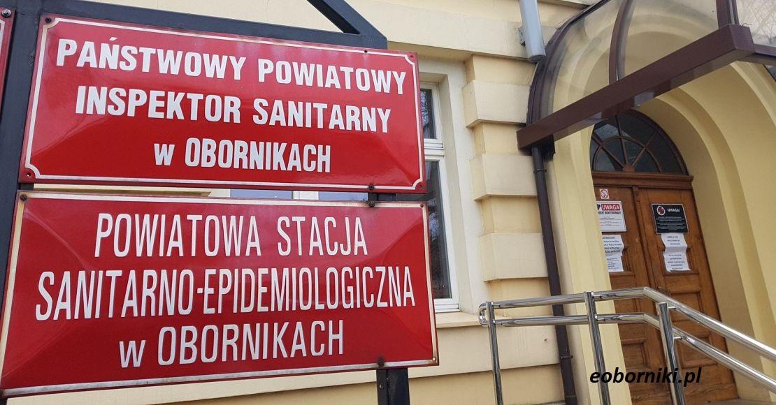 Sobotni komunikat Powiatowego Inspektora Sanitarnego w Obornikach