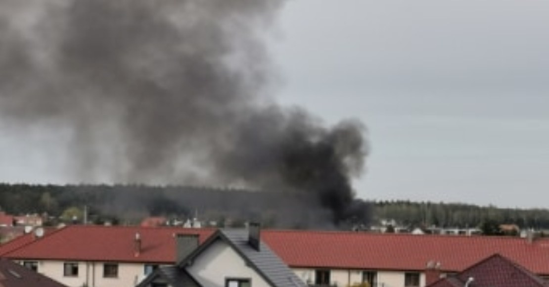 Pożar domku ROD im. Dobrzyckiego w Obornikach