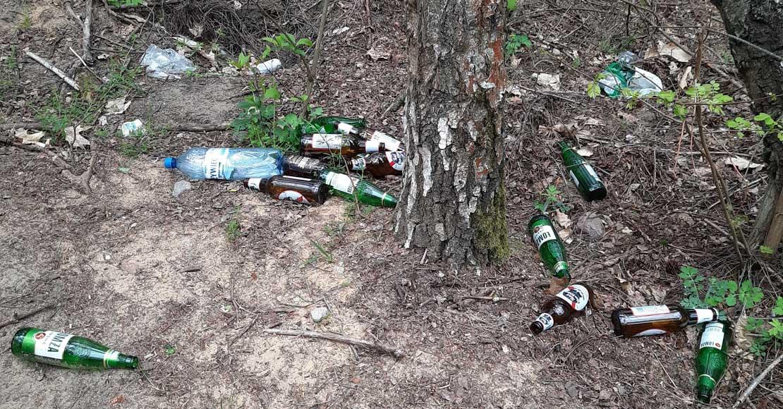 Lasy pełne śmieci