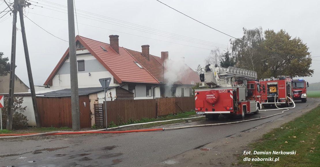 Pożar w Pacholewie (foto)