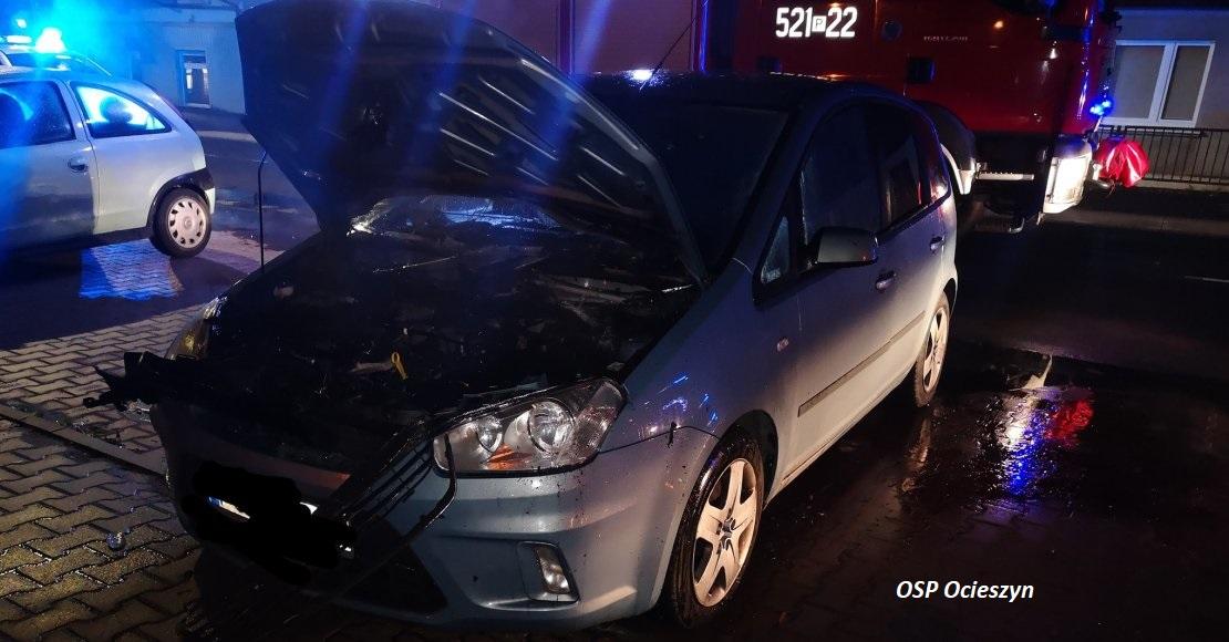 Nocny pożar samochodu w Obornikach (foto)