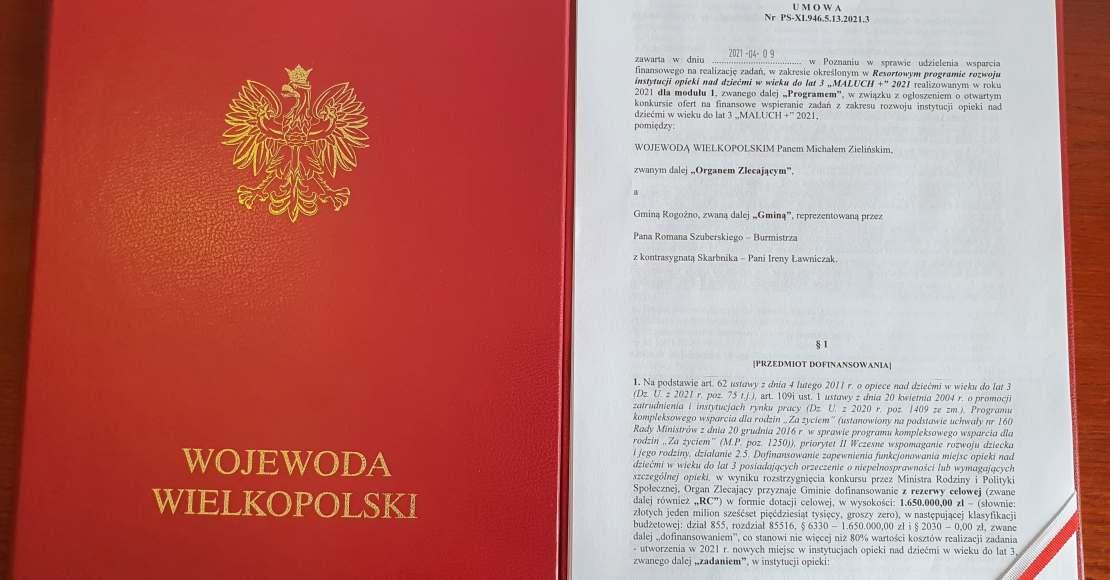 Umowa na budowę rogozińskiego żłobka podpisana