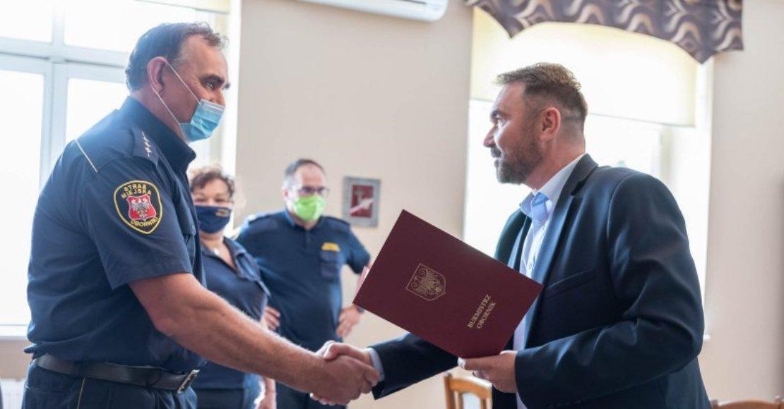 Andrzej Strugała z awansem na Zastępcę Komendanta Straży Miejskiej