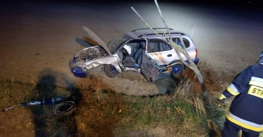 Wypadek na DK11. Jedna osoba przetransportowana do szpitala (foto)