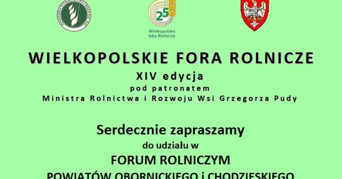 WIR Oborniki zaprasza na forum rolnicze